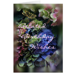Belated Birthday- hydrangea 5409-customize Card
