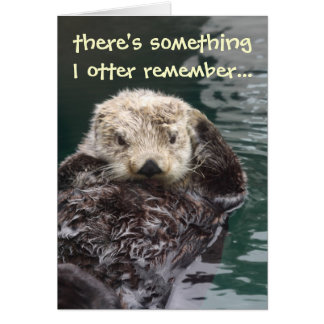 Belated Birthday Otter Card