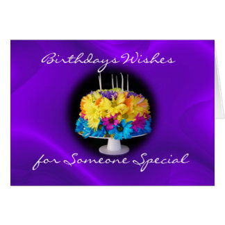 Belated Daisy Birthday Cake Card- personalize it Greeting Card