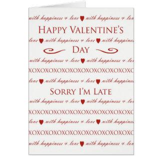 Belated Valentine s Day Elegant Script Lettering Cards