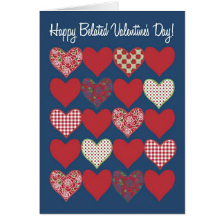 Belated Valentine's Card, Hearts and Roses Card