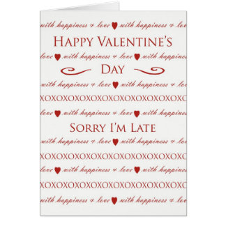 Belated Valentine's Day, Elegant Script Lettering Cards