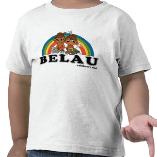 Belau Rainbow's End Kids T-shirts