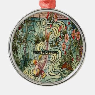 Belcher Mosaic Glass Koi Fishy Christmas Ornament