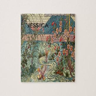 Belcher Mosaic Glass Koi Fishy Jigsaw Puzzle