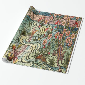 Belcher Mosaic Glass Koi Fishy Wrapping Paper