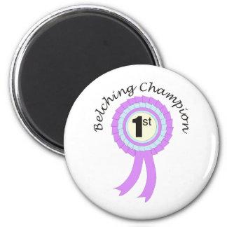 Belching Champion 6 Cm Round Magnet
