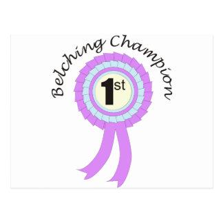 Belching Champion Postcard