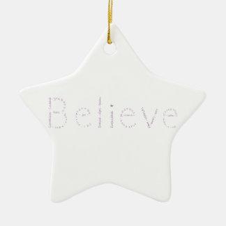 Beleive - Purple - January's WoW Ceramic Star Decoration