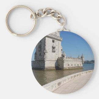 Belem Tower Basic Round Button Key Ring