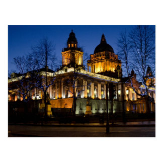 Belfast City Hall at night Postcard