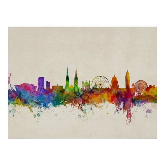 Belfast Northern Ireland Skyline Poster