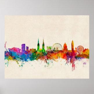 Belfast Northern Ireland Skyline Print