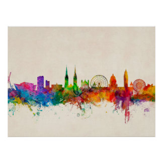 Belfast Northern Ireland Skyline Posters