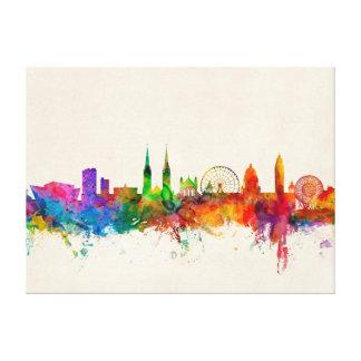 Belfast Northern Ireland Skyline Stretched Canvas Print