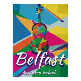 Belfast,Northern Ireland Vintage Travel poster