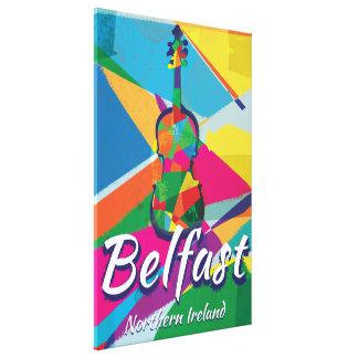 Belfast,Northern Ireland Vintage Travel poster Canvas Prints
