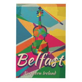 Belfast,Northern Ireland Vintage Travel poster Wood Prints