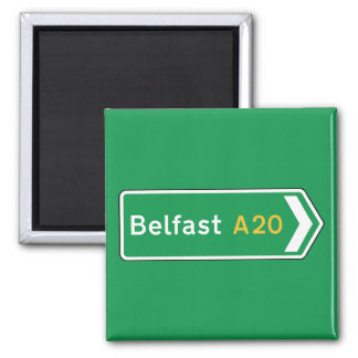 Belfast, UK Road Sign Magnet