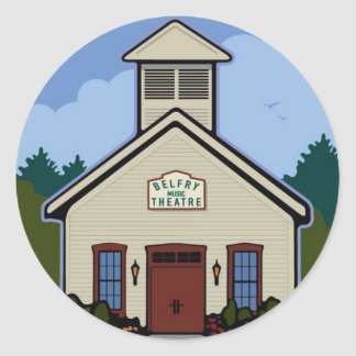 Belfry Music Theatre - Round Sticker