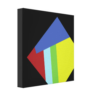 Belgian Abstract Art Design Stretched Canvas Prints