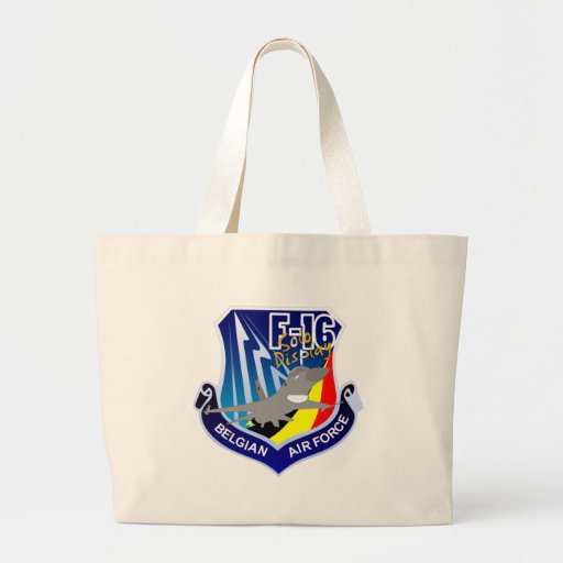 Belgian Air Froce F-16 Patch Tote Bag