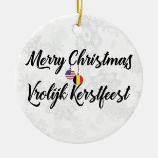 Belgian American Bilingual Holiday Decoration