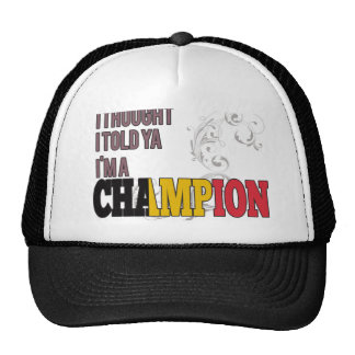 Belgian and a Champion Hats