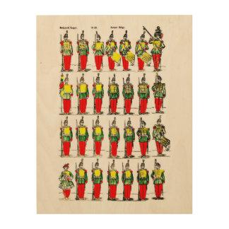 Belgian Army circa 1800's Wood Print