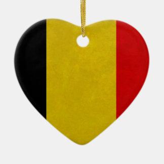 Belgian Belgium flag Ceramic Heart Decoration