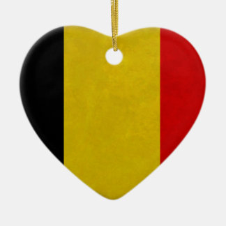 Belgian Belgium flag Christmas Ornament