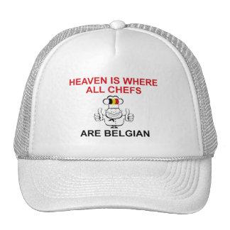 Belgian Chefs Mesh Hats