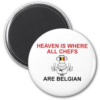 Belgian Chefs 6 Cm Round Magnet