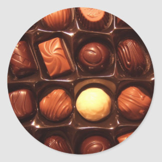 BELGIAN CHOCOLATES ROUND STICKER