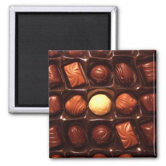BELGIAN CHOCOLATES SQUARE MAGNET