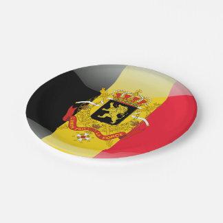 Belgian Coat of arms Paper Plate