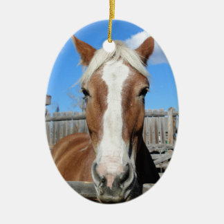 Belgian Draft Horse Christmas Ornament