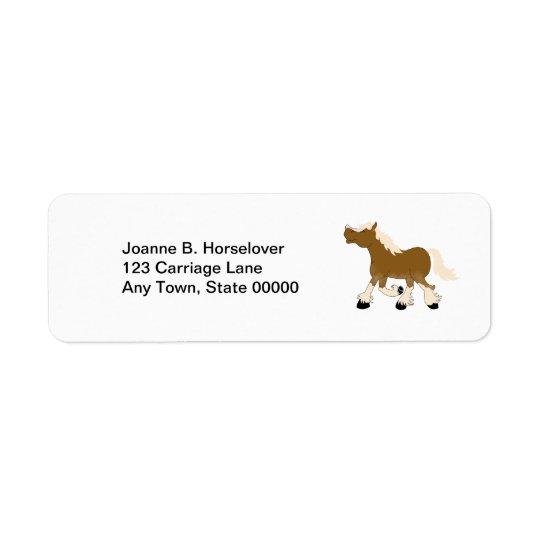 BELGIAN DRAFT HORSE Custom Return Address