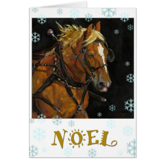Belgian Draft Horse Holiday Card