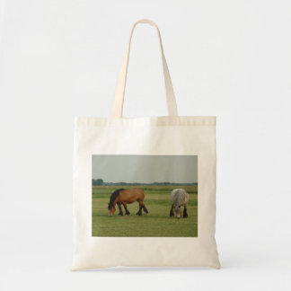 Belgian Draft Horse-one grey, one brown Tote Bag