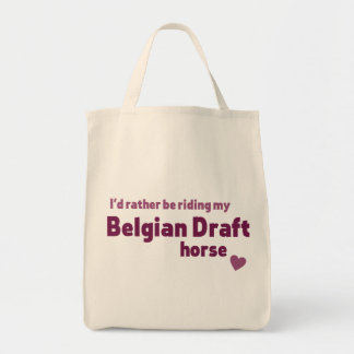 Belgian Draft horse Grocery Tote Bag
