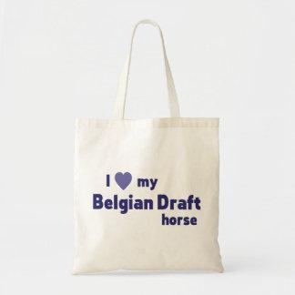 Belgian Draft horse Tote Bags