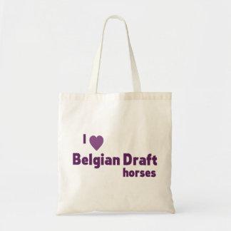 Belgian Draft horses Budget Tote Bag