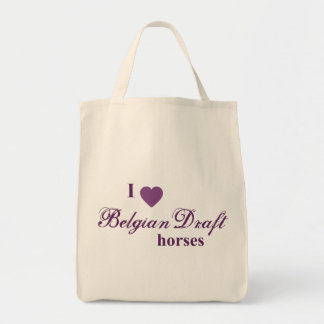 Belgian Draft horses Canvas Bags