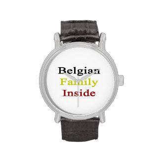Belgian Family Inside Wristwatches