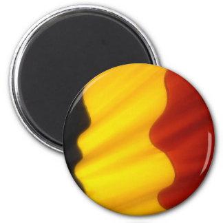 Belgian Flag 6 Cm Round Magnet