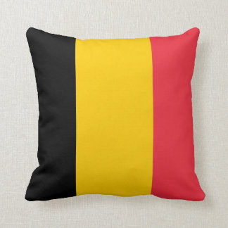 Belgian Flag American MoJo Pillow
