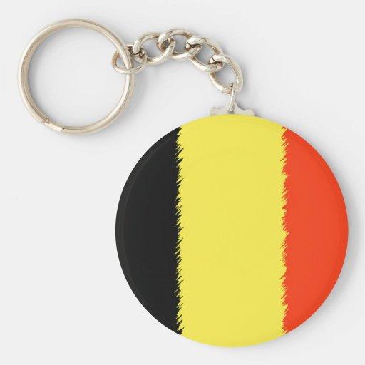 Belgian Flag Key Chain