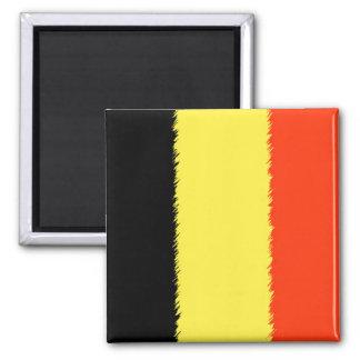Belgian Flag Square Magnet
