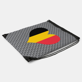 Belgian Flag on a cloudy background Cinch Bags